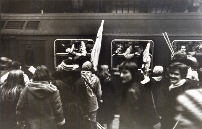 Arriving at Copenhagen Central Station to participate in a demonstration against one of the many attempts to shut down the university
