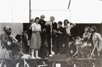 Singing at the annual revue