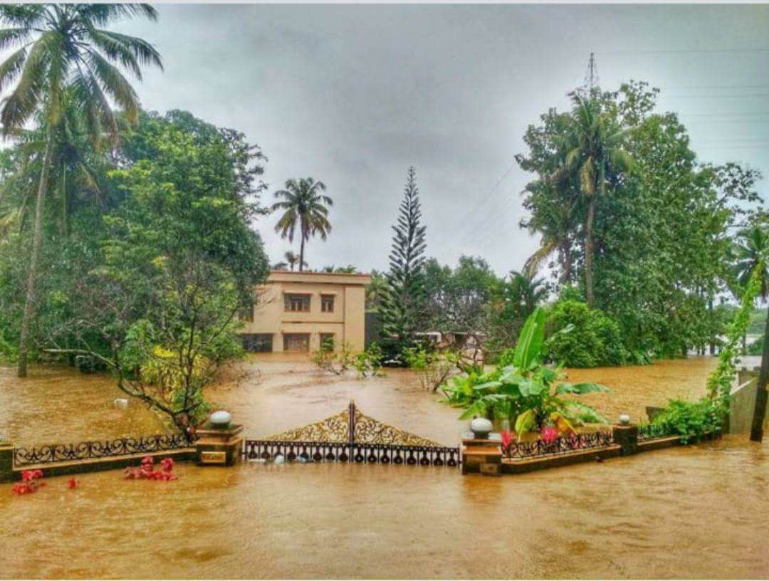 Photo by people who witnessed the recent floods in the state of Kerala in India.