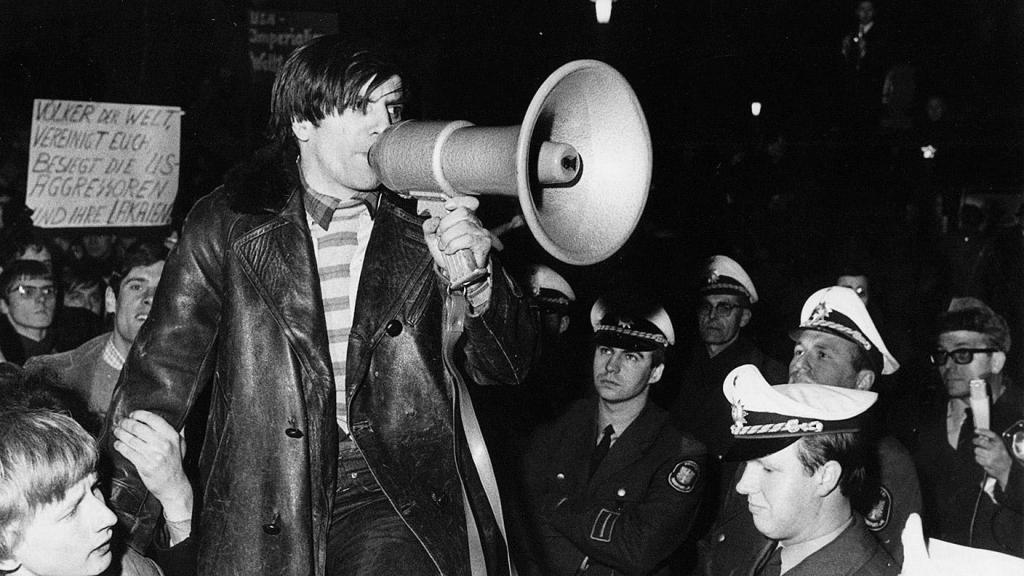 Rudi in a protest